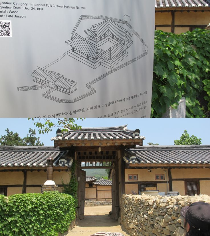 The Map Of Famous Old House In Korea And Real Image Of Entry Gate Of The  House. Beside, Entry Gate, Stone Wall Was Installed. This Stone Wall Make  The House ...