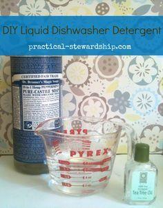 Revised and Improved Homemade Three Ingredient Liquid Dishwasher Detergent