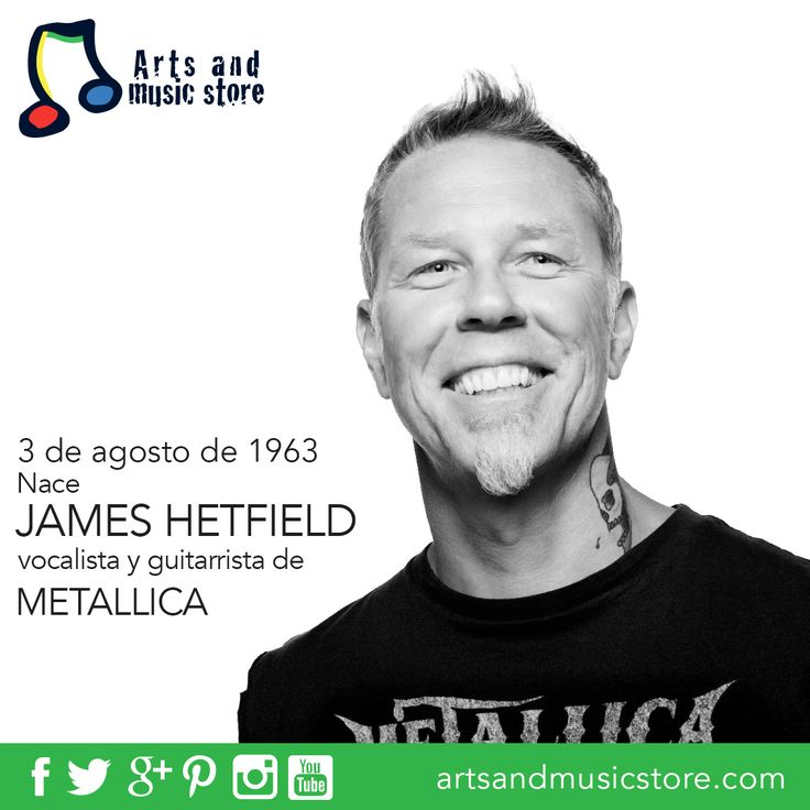 Hoy cumple 53 años James Hetfield, guitarrista y vocalista de Metallica.