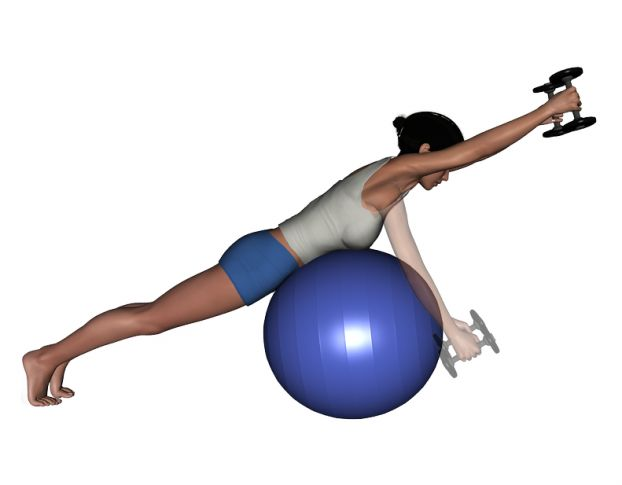 Stability Ball And Dumbbell Exercises 45