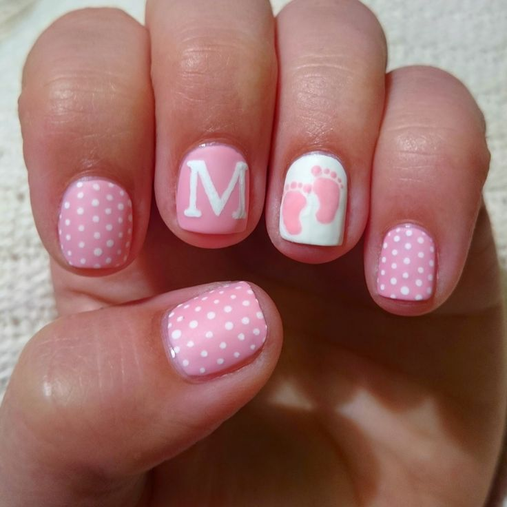 Baby Girl Nails For Baby Shower