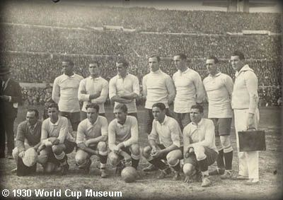 Uraguay 1930 World Cup Team Picture - 30 July 1930 – In Montevideo, Uruguay wins the first FIFA World Cup.
