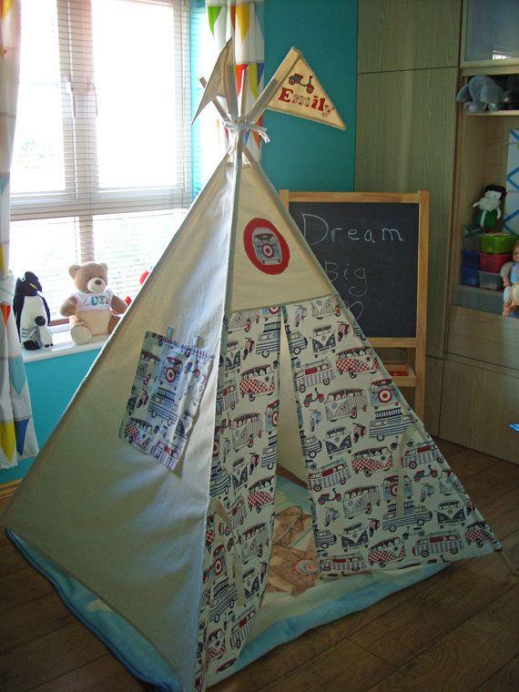 Teepee Play Tent Kids Teepee Tent Campervans by TheTeepeeFairy