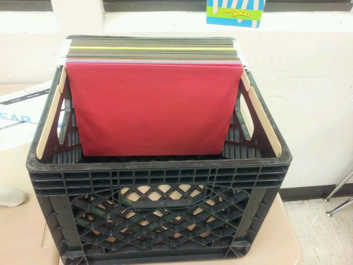 Best 25 hanging file folders ideas on pinterest hanging for Milk crate crafts