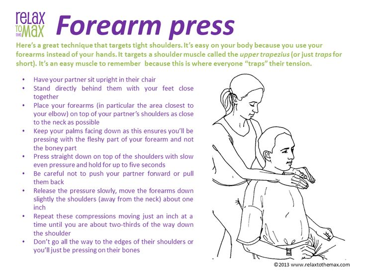 Forearm Press Chair Massage Technique
