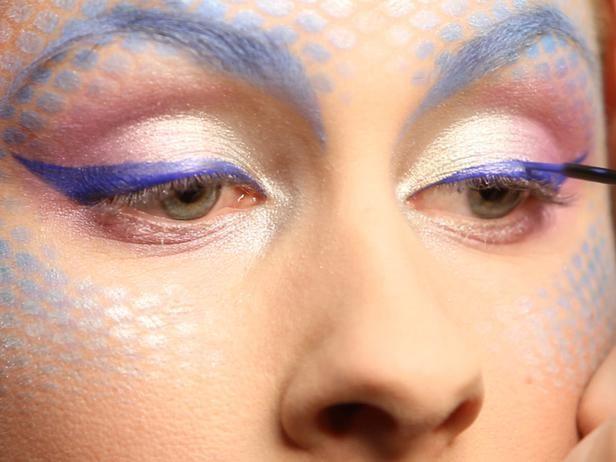 great mermaid makeup.
