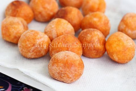 fried sweet potato balls   appy's   Pinterest