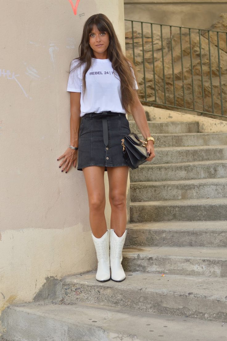 Rebel 24/7 ♥ Ironic Lux Tee and Isabel Marant Dallin Cowboy Boots ♥