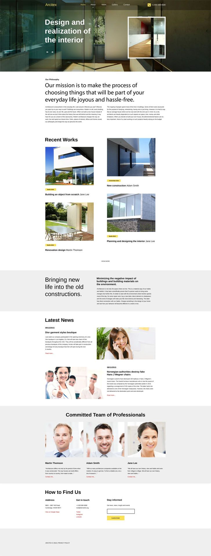 #Responsive #architecture #site #template boasts a thought-out design built with CSS3, HTML5, jQuery, and SASS techniques. By means of a top page-wide slider, you can focus prospects' attention on your offerings as soon as they show up on your site. This effective intro area is overlaid with a transparent, slightly subdued bar that features your logo, menu items and contact details. The rest of this grid-based layout is clean and light, which sets a contrast with black typography. It…