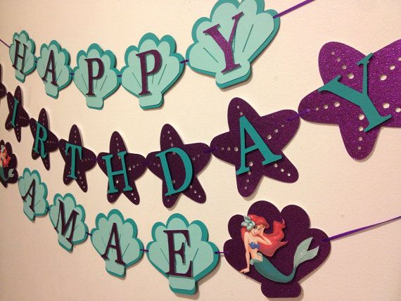 Little mermaid banner by Fancymycupcake on Etsy
