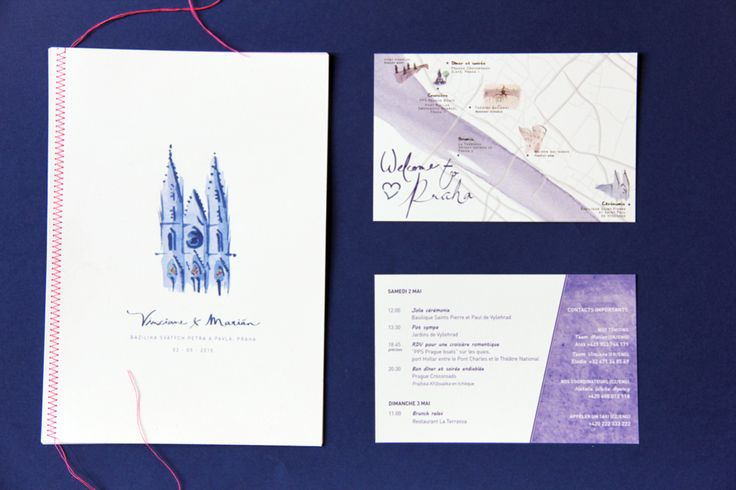 Stationery for the wedding of V + M in Praha | designed by Allons-y Alonso