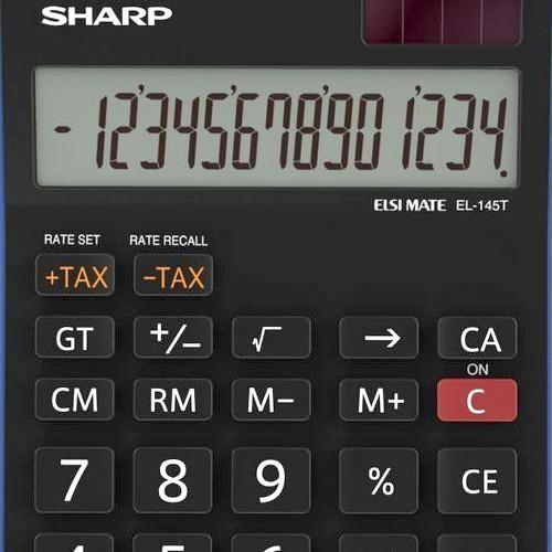 Sharp Elsi Mate EL-145T-BL asztali számológép 14 számjegyes - Kék - Számológépek Ft Ár 4,690