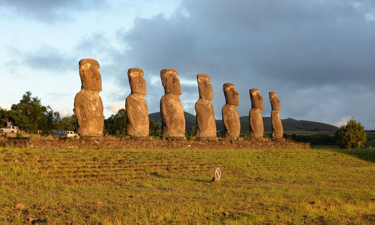 They are said to represent the seven explorers first sent out to Easter Island a thousand years ago. What do you believe?  Read more Easter Island legends here: