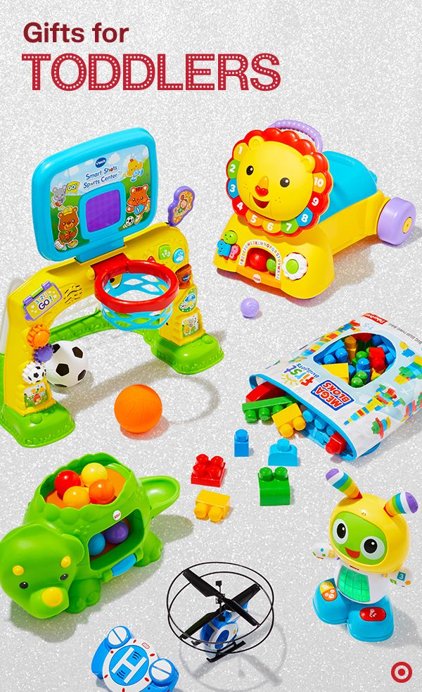 Life as a toddler is full of firsts: first steps, first building blocks, first swoosh into the net and even first flying helicopter. This Christmas, wrap up toys that encourage toddlers and preschoolers ages 6 months to 5 years old to have fun while developing their sensory and motor skills along with letters, colors, numbers and more.