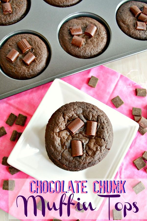 Chocolate Chunk Muffin Tops - a VitaTop knock off that's better than the real thing--and less than 90 calories each!