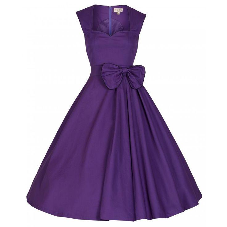 Lindy bop grace swing 50 39 s dress purple swing dress for Lindy bop wedding dress