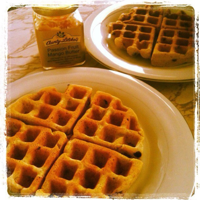 brown butter banana waffles banana waffle recipe two peas their brown ...
