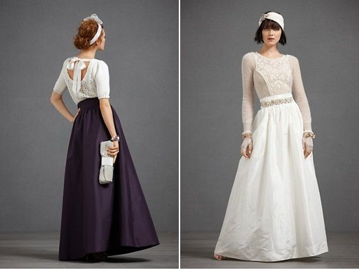Bridal separates Days-gone-by wedding dress inspiration – living out a bit of those little girl dreams