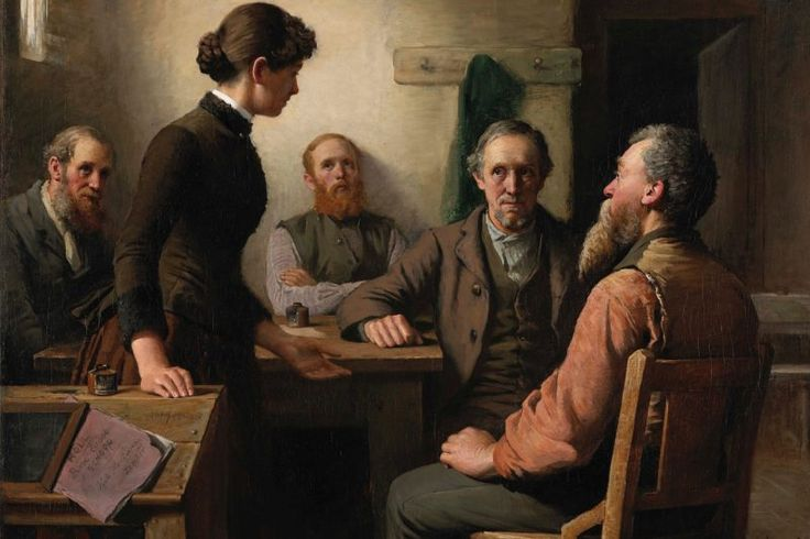 Painted by well-known Prince Edward Island artist Robert Harris in 1885, the piece shows a meeting in a schoolhouse in P.E.I. And it is currently being restored by a young woman with as strong an Island connection as the painting itself has.