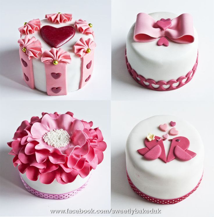 87 best Valentine\'s Day Cakes images on Pinterest | Petit fours ...