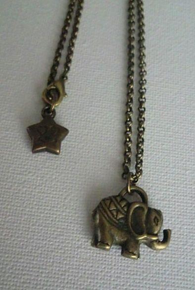 Elephant - necklace handmade by Miss Daisy