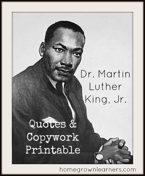 Famous Mlk Quotes: 129 Best Black History Theme- Weekly Home Preschool Images