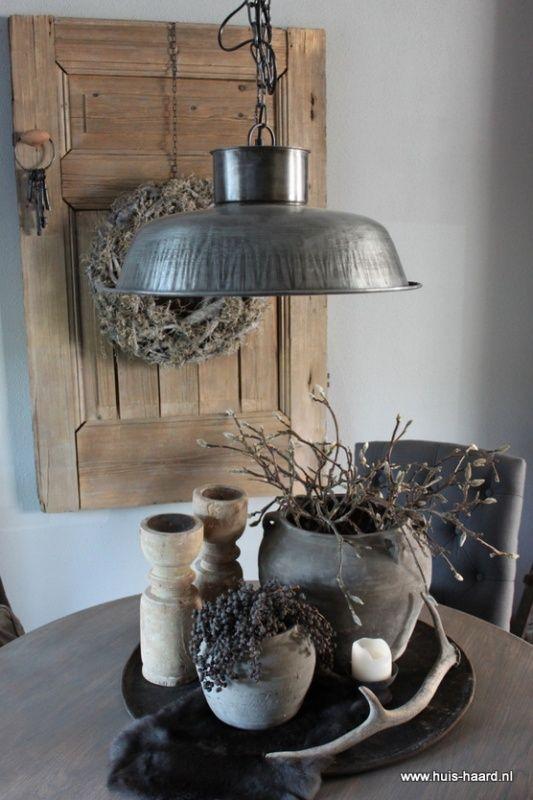 Huis haard landelijke woonaccessoires webshop interieuridee n pinterest metals on and - Decoratie industriele huis ...