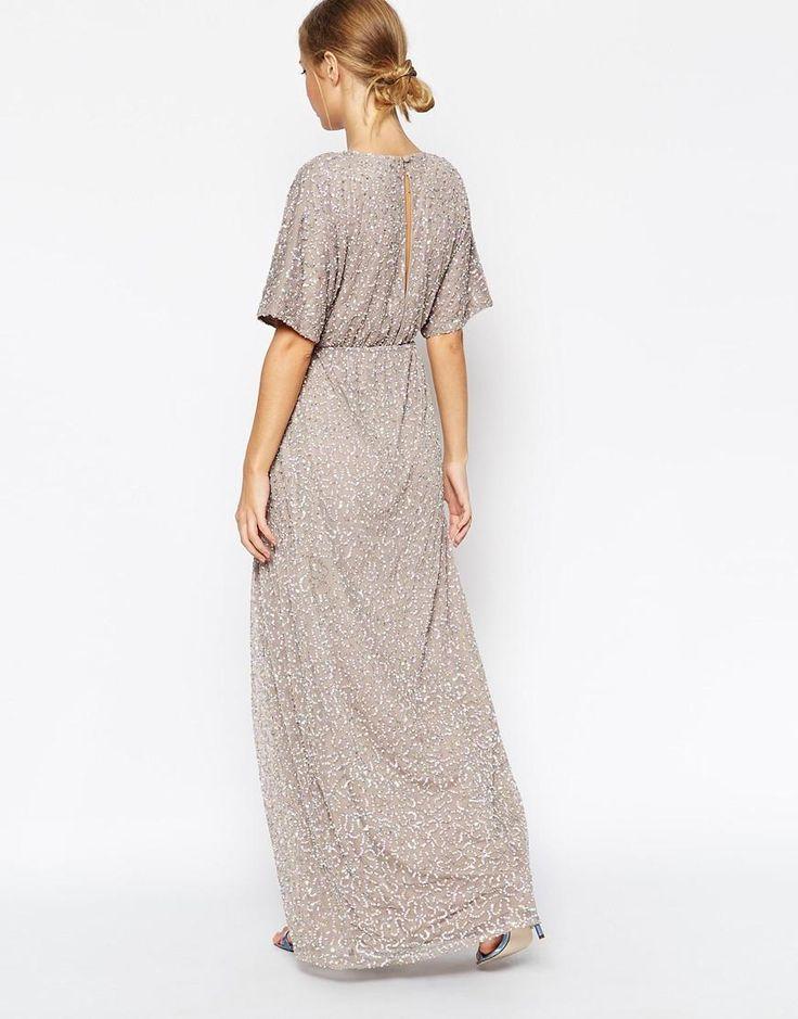 ASOS   ASOS Sequin Kimono Maxi Dress at ASOS