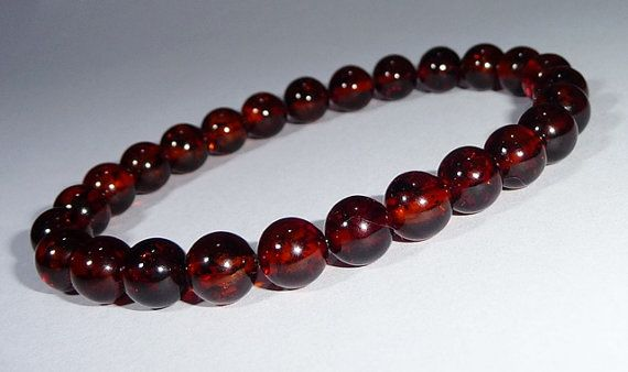 CHERRY natural amber bracelet, Wrist Mala, Yoga Bracelet, Energy Bracelet, Meditation Bracelet - Tribal, Chic, Jewelry
