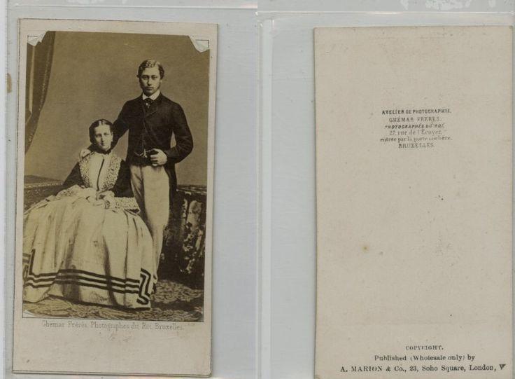 Ghemar, Bruxelles, Édouard VII du Royaume-Uni Et Sa Femme Alexandra de Danemark    #CDV #portraits #Familles_Royales_et_Impériale