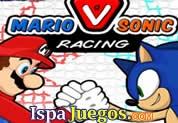 Mario Vs Sonic Racing: Mario bros y Sonic están de acuerdo con una competencia en motos, selecciona a tu favorito y a competir http://www.ispajuegos.com/jugar4088-Mario-Vs-Sonic-Racing.html