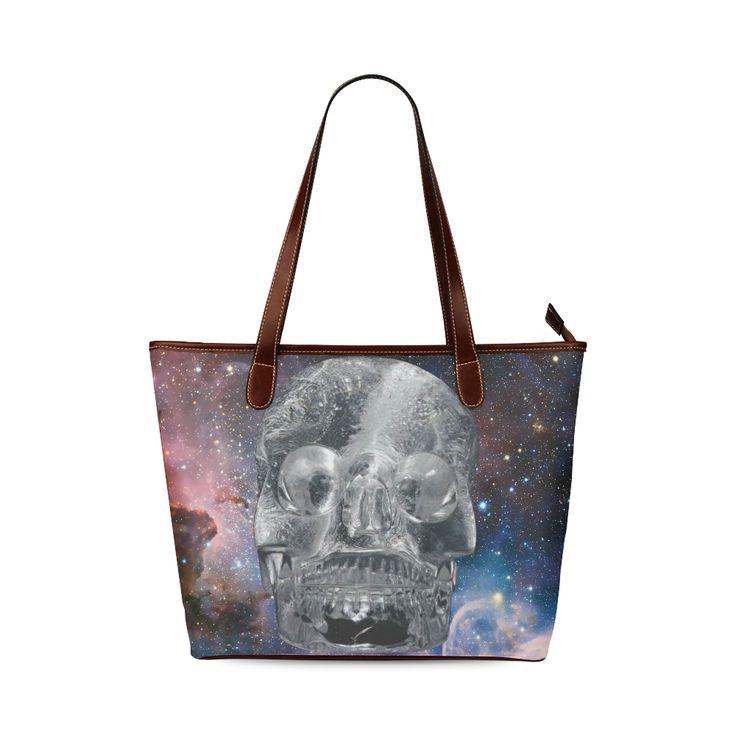 Crystall Skull Shoulder Tote Bag. FREE Shipping. #artsadd #bags #skull