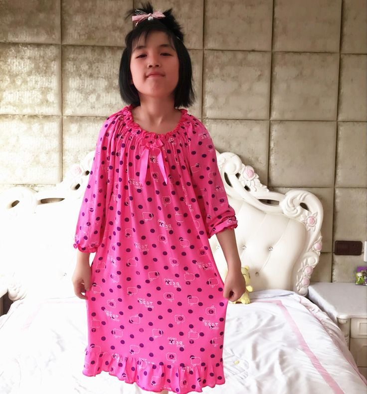 Aliexpress.com : 2016 neuen langen nachthemden Mutter Tochter Sommer modal langes nachthemd lose edle mädchen nachthemden von verlässlichen strickjacke 1-Lieferanten auf Sakura Attitude Clothing Store kaufen