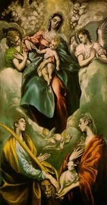 Madonna and Child with St. Martina and St. Agnes - (El Greco (Doménikos Theotokopoulos))
