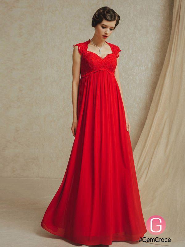 Red Empire Dress Wedding Dresses
