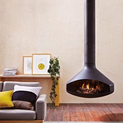 ErgoFocus suspended fireplace rotates 360º #fireplace https://oblica.com.au/