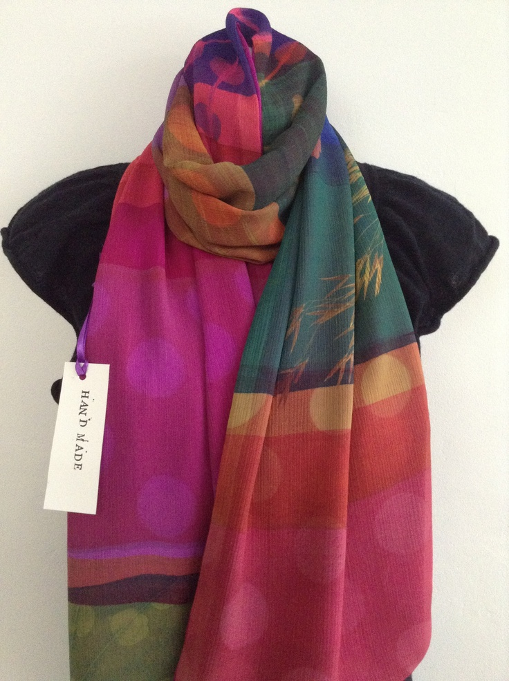 Oversized Merino Wool Scarf - INKED UP hand painted by St. James Whitting St James Whitting jMz1NM