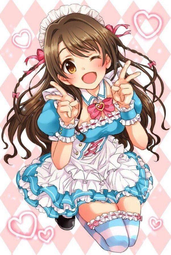 #Dessin #Illustration fille maid kawaii lolita moe par restaint #Manga