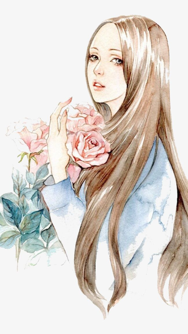 Watercolor Girl Watercolor Girl Cartoon Girl Drawing Manga