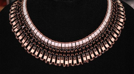 Cleopatra Collar Crystal Beaded Necklace and by EagerBeaderTucson, $138.00