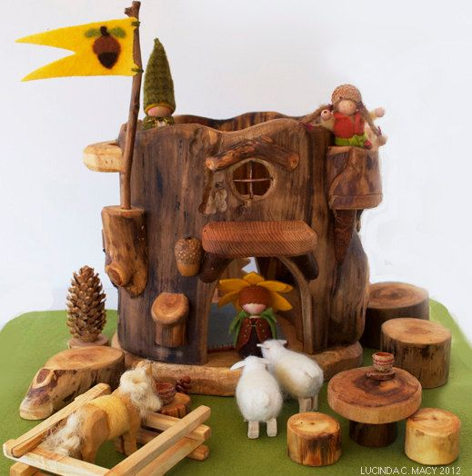 Big Gnome Tree Stump House Oooh Baby Baby Gnome