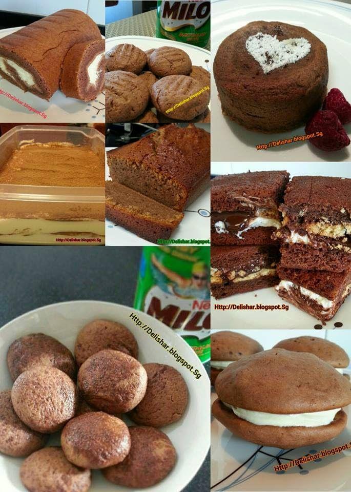 DELISHAR: Singapore Cooking & Food Blog: Milo Recipes Round Up!