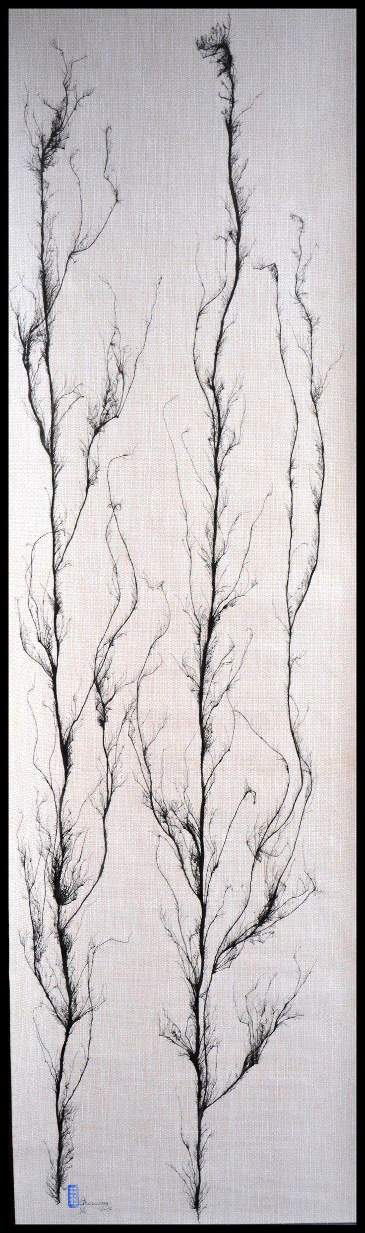 """FICHA TECNICA DE LAS OBRAS """"ARBOLES QUE MIRAIS AL CIELO"""" Nº7  La obra esta realizada con Tinta China al estilo de la escuela del sur de China, también conocida como """"pintura sin huesos"""" (pintura sin contornos). Autor: Mercurio Marin Soporte: Papel pintado. (150gr) Medidas:  Alto.-180cm  Ancho.-52cm Precio: 90€ Gasto de envío a la Península: 9€ (otros preguntar) Forma de pago: Contra reembolso Se envía en tubo de cartón rígido. Certificado de Autenticidad y Pieza Única."""