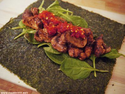 Low Carb Ginger Teriyaky Chicken Seaweed Wrap by Kierston F.