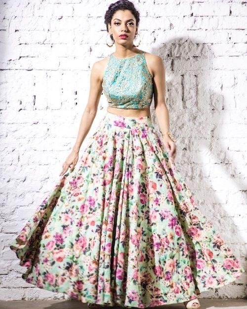 Modern Floral Lehenga. Lehenga dress for all occasion