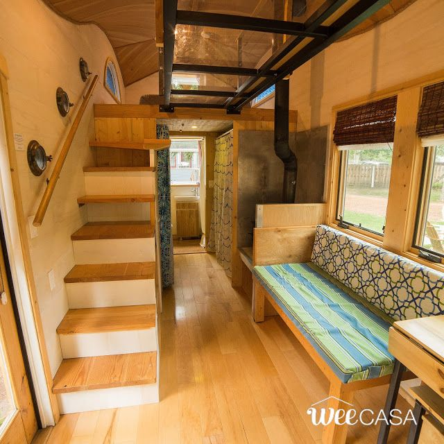the pequod an eye catching tiny house with a curved roof built by - Tiny House Interior