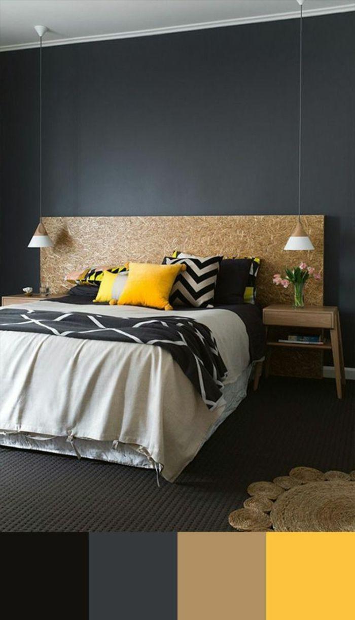 17 meilleures id es propos de d cor de chambre coucher gris sur pinterest chambre grise for Idee deco chambre gris et jaune