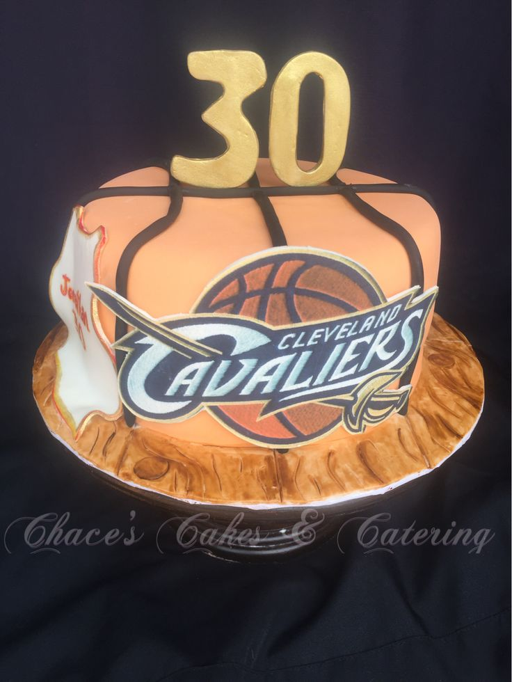 Cavaliers Basketball Birthday Cake...! https://www.facebook.com/Chacescakes
