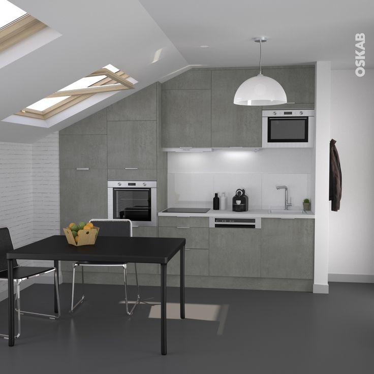 Cuisine industrielle beton esprit loft fakto b ton for Cuisine industrielle loft