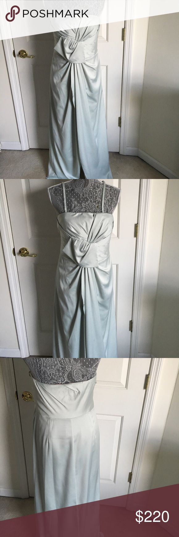 Mint Coast dress with blush pink lining Perfect for weddings. Worn once. Great condition. I will send you pink shoes size 6.5 that go with it as a gift 🎁 but they were suede so you will need to clean them. You can also purchase a necklace that goes with this dress. Look lower in my closet for same brand. I can give you bundle discount. coast Dresses Wedding